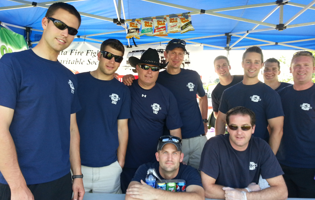 Delta Firefighters Cook-up at the Tour de Delta