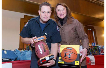 Delta Firefighters Help Deltassist Toy Depot