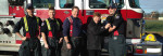 Delta Firefighters and Mayor Lois Jackson with Sponsored Guide Dog